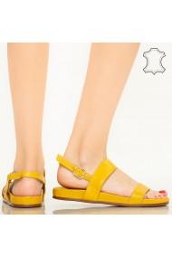 Sandale piele naturala Soa galbeni
