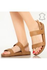 Sandale piele naturala Soa maro
