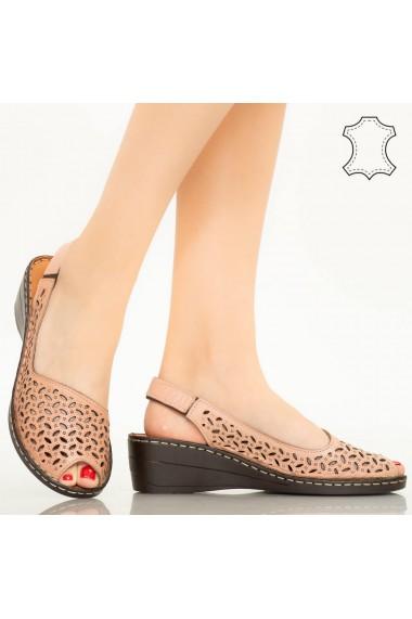 Sandale piele naturala Goy roz