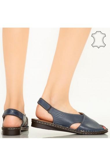 Sandale piele naturala Dom albastre