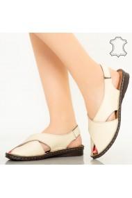 Sandale piele naturala Dom bej