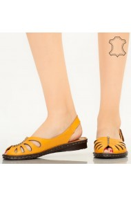Sandale piele naturala Lya galbene