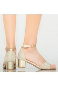 Sandale dama Comet aurii