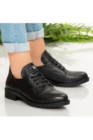 Pantofi piele naturala Nan negri