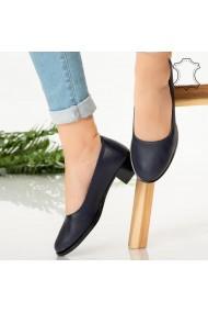 Pantofi piele naturala Ofe albastri
