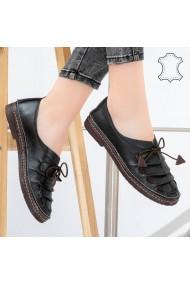 Pantofi piele naturala Cio negri