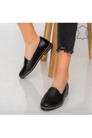 Pantofi piele naturala Timon negri