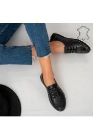 Pantofi piele naturala Sup negri