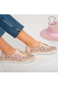 Pantofi piele naturala Hud roz