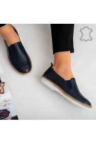 Pantofi piele naturala Erim bleumarin