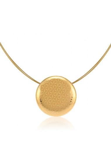 Pandantiv Minimal din portelan fin cu auriu cu colier auriu metal antialergic ZEMA