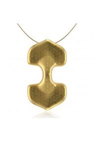 Pandantiv Minimal dublu din portelan minimal suflat aur ZEMA