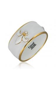Bratara Zily Royal Lily din portelan fin placata cu aur ZEMA