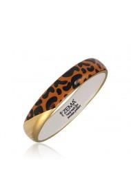Bratara leopard din portelan fin subtre suflat aur ZEMA