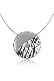 Pandantiv zebra din portelan fin suflat platina (mare) ZEMA