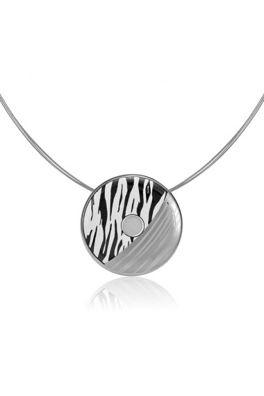 Pandantiv zebra din portelan suflat platina ZEMA