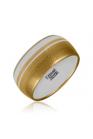 Bratara Minimal din portelan fin placata cu aur (lata) ZEMA