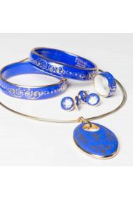 Set complet Baroc Albastru si Auriu oval ZEMA