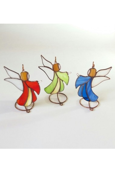 Inger Opaline Crafts sticla de vitraliu Tiffany