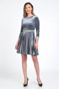 Curea eleganta din glitter argintiu Jane M - 105 cm