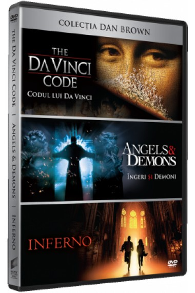 Colectia Dan Brown Codul lui DaVinci The DaVinci Code Ingeri si Demoni Angels Demons Inferno DVD