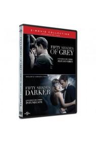 Pachet Cincizeci de umbre ale lui Grey + Cincizeci de umbre intunecate / Fifty Shades of Grey + Fifty Shades Darker - (2 filme DVD)