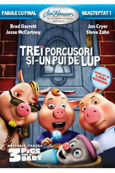 Fabule cu final neasteptat 1: Trei porcusori si un pui de lup / Unstable Fable 1: Three Pigs and a Baby - DVD
