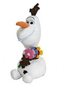 Plus Olaf de vara (cu flori) din Frozen / Regatul de Gheata (25 cm)