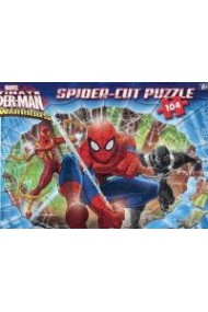 Puzzle Ultimate Spider-Man: Web-Warriors (Spider-cut puzzle 104 piese) Clementoni