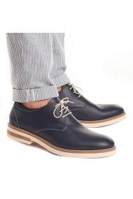 Pantofi barbati din piele naturala bleumarin 1021