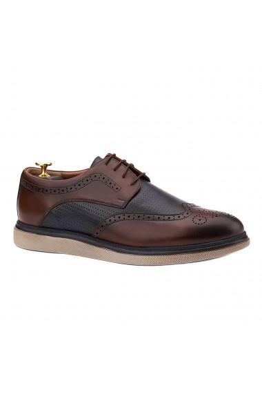 Pantofi sport casual din piele naturala maro 0108
