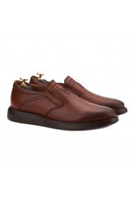 Pantofi casual din piele naturala maro 0144