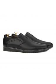 Pantofi casual din piele naturala neagra 0149