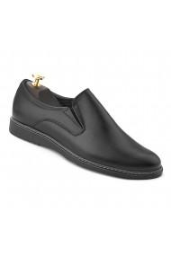Pantofi Casual fara siret din Piele Naturala Neagra 754