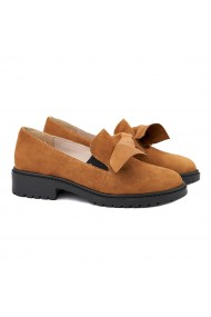 Pantofi casual dama piele naturala maro 1368