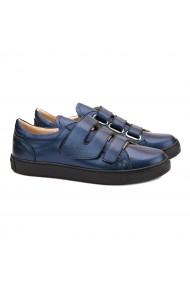 Pantofi dama casual din piele naturala albastra 1470