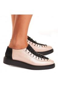 Pantofi dama casual din piele naturala bej 1404