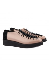 Pantofi dama casual din piele naturala bej 1410