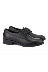Pantofi dama casual din piele naturala neagra 1380