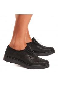 Pantofi dama casual din piele naturala neagra 1405