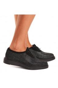 Pantofi dama casual din piele naturala neagra 1443