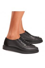 Pantofi dama casual din piele naturala neagra 1444