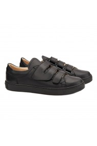 Pantofi dama casual din piele naturala neagra 1472