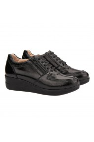 Pantofi dama casual din piele naturala neagra 1475