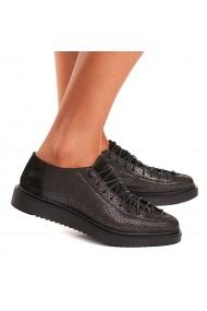 Pantofi dama casual din piele naturala neagra 1551