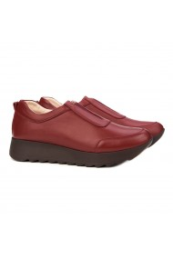Pantofi dama casual din piele naturala rosie 1465