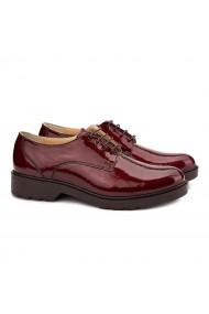 Pantofi dama casual din piele naturala rosie 1469