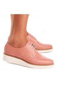 Pantofi dama casual din piele naturala somon 1519