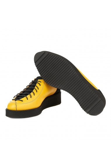 Pantofi dama casual galbeni piele naturala 1260