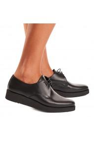Pantofi dama casual negri din piele naturala 1546